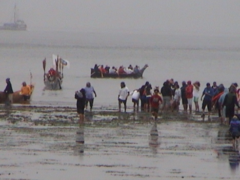 Canoe takeoff from Pt. Townsend 2003