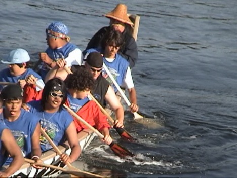 Canoe entry ceremony - Paddle to Elwha 2005