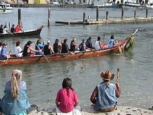 Canoe landing 2001