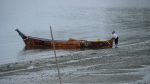 Canoe on beach at Lower Elwha stopover
